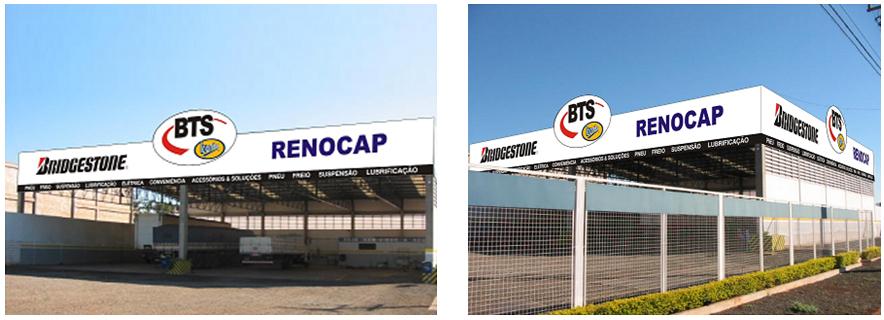 A fachada do CENTRO DE SERVIÇOS-BTS foi renovada para atender esta nova fase da empresa.