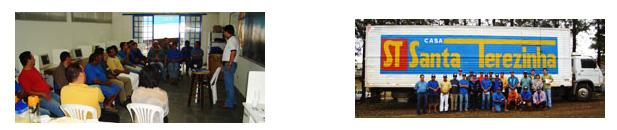 O consultor da Bandag, Marcelo Piassa, promoveu palestra para os motoristas da Casa Santa Terezinha em Ibaiti/PR. Estiveram presentes no evento, os encarregados Emerson, Zilda, Roberto E. Alves e o diretor da empresa Sr. Roberto Regazzo. Pela Renocap, estiveram o supervisor Allan Garcia e o vendedor José Augusto.
