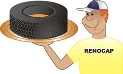 Nosso ícone ao lado daquilo que faz a alegria do cliente. Um bom pneu e um bom serviço.