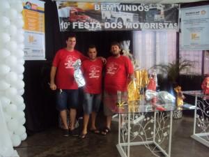 10ª Festa Motoristas Andirá - Organizadores  com Sérgio Zanelatto 22dez13